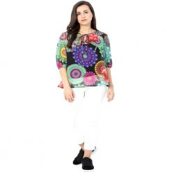 Multi color Chiffon Printed Top