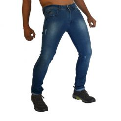 Hit & Fit Blue Soft Slim Skiny  Fit Torn Men's Jenas