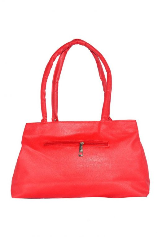Blood Red Synthetic PU Leather Shoulder Bag For Women