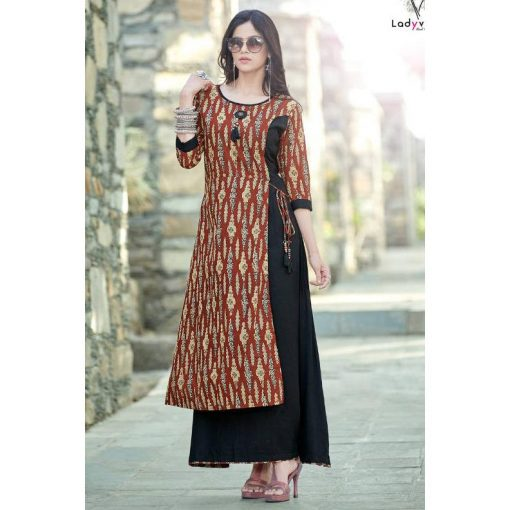 Lady view Kesar Party Wear Western Long Kurtis
