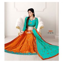 Zara Bridal Multicolor Lehenga, Choli and Dupatta Set