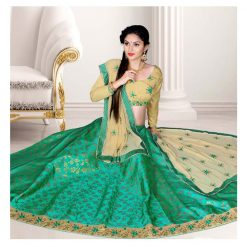 Zara Bridal Colorful Lehenga, Choli and Dupatta Set
