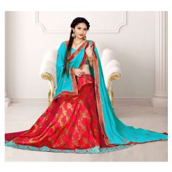 Zara Bridal Butterfly Lehenga, Choli and Dupatta Set