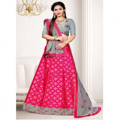 Zara Bridal Colorful Unstitched Lehenga, Choli and Dupatta Set