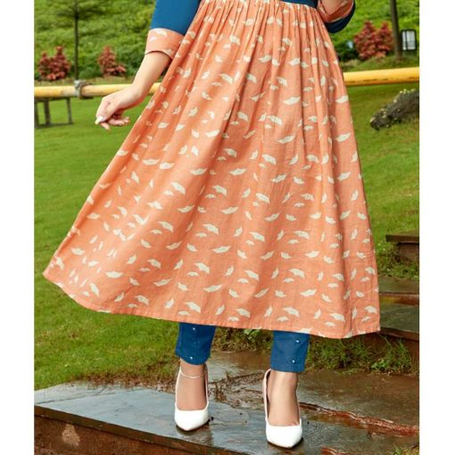 Diya Trendz Ethnicity Bi-Color Party Wear Kurtis