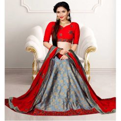 Zara Bridal Designer Unstitched Lehenga, Choli and Dupatta Set