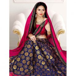 Zara Bridal Fashionable Unstitched Lehenga, Choli and Dupatta Set