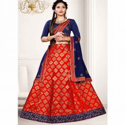 Zara Bridal Taffeta Unstitched Lehenga, Choli and Dupatta Set