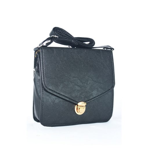 Black Color Faux Leather Sling Bags For Women